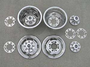 16 / 16.5 FORD F350 Dually Wheel Hubcaps BOLT ON