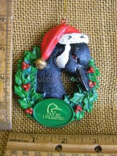 Ducks Unlimited Goose Duck In Wreath Ornament NEW