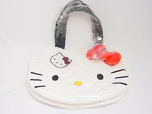 Hello Kitty Face With Bow Quilted HandBag Tote Sanrio Loungefly