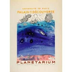 1959 Lithograph Raoul Dufy Planetarium Planets Mourlot