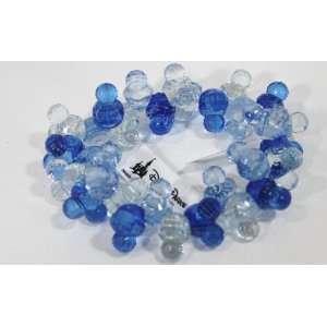 Disney Mickey Ears Blue & Clear Beaded Bracelet   Disney Parks