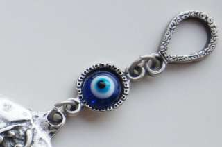 Pomegranate Handmade Evil Eye Silver Plated Wall Hanging