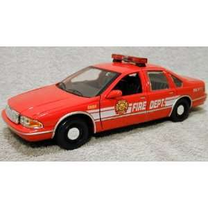 1993 Chevrolet Caprice Fire Chief Diecast Car Model 1/24 Die Cast Car