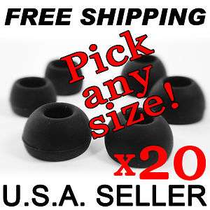 20 MEDIUM Replacement IN EAR EARBUDS TIPS Gels Fits Sony MDR