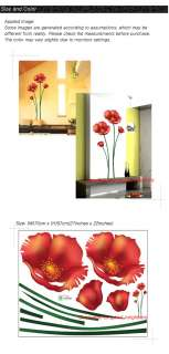 Flower Easy Instant Wall Decor Sticker Decal ECO22