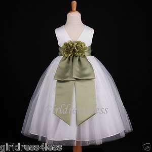 JR. BRIDESMAID WEDDING FLOWER GIRL DRESS 18M 2 4 5/6 8 10 12