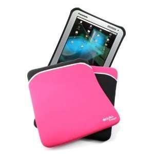 Rugged Zip Sleeve In Black & Pink Reversible Neoprene For
