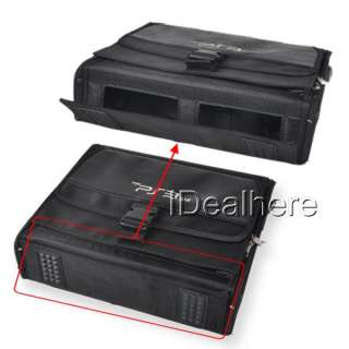 Travel Carrying Bag Case for Sony PS3 Slim Console Accessory Black