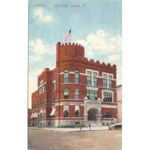 1910 Vintage Postcard   City Hall   Quincy Illinois: Everything Else