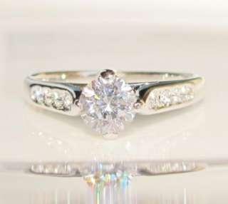 diamond white gold GP ring promise engagement size 8 lady