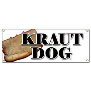 DOG BANNER SIGN weiner sauerkraut hot dog stand: Patio, Lawn & Garden