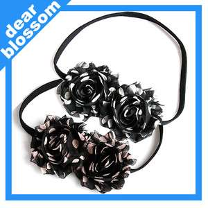 Swirl Chiffon Flower Elastic Headband Ver. 2COLORS