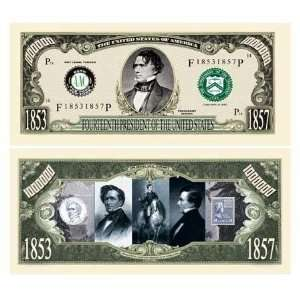 Franklin Pierce Million Dollar Bill Case Pack 100: Toys