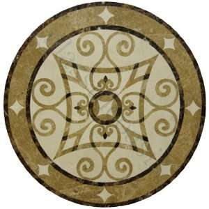 Emperador Dark Emperador Light Crema Marfil Medallion Cream/Beige