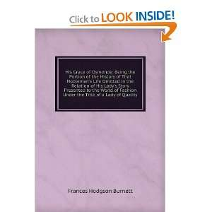 Under the Title of a Lady of Quality: Frances Hodgson Burnett: Books