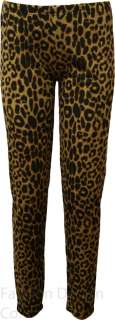 Ladies Plus Size Leopard Animal Print Leggings Full Length Ankle