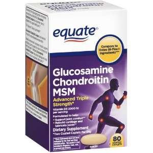 Equate   Glucosamine Chondroitin MSM, Advanced Triple Strength, 80