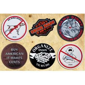 6 UNION Hardhat Decals six pack hard hat helmet sticker