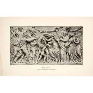 1890 Print Return Relief Niederwald Monument Hesse Johannes Schilling