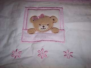 Kidsline Pink Teddy Bear Baby Nursery Window Valance