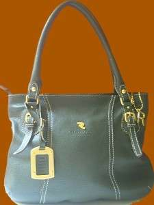 Robert Pietri Spain Dark Olive Pebbled Leather NEW Large Tote Bag