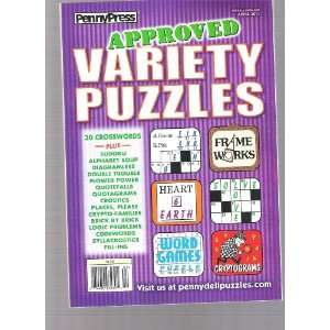 Penny Press Approved Variety Puzzles (30 Cross words, April 12,2011