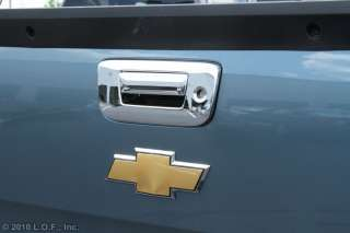 Silverado Sierra PickUp Truck Chrome Rear Tailgate Handle Cover with