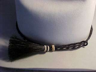 Western Handmade Horse hair slide Hat band w/tassel