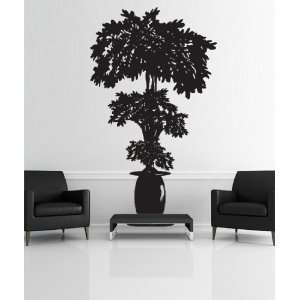 Vinyl Wall Decal Sticker Planted Potted Plant Tree