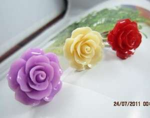 Cute Candy Colors Rose Flower Stud Earrings Fashion Jewelry