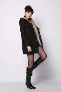 New Fashion 2 color hot Sell Womens Warm Hooded Faux Fur Winter Jacket