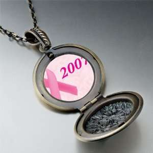 2007 Pink Ribbon Pendant Necklace Pugster Jewelry