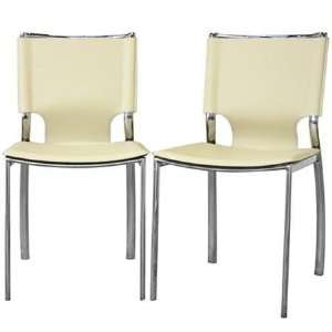 Ivory Montclare Leather Modern Dining Chair in Ivor Furniture & Decor