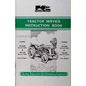 Reprint Owners Manual All TE British Models: Ferguson Tractor: Books