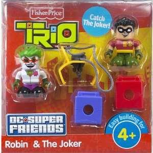 Trio Building System DC Super Friends Figure Robin Joker Toys & Games