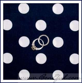 Blue White Large Polka Dot Cotton Minnie America Patriotic HTF