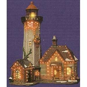 Holiday Lighthouse ~ Color Changing Fiber Optic ~ 0489