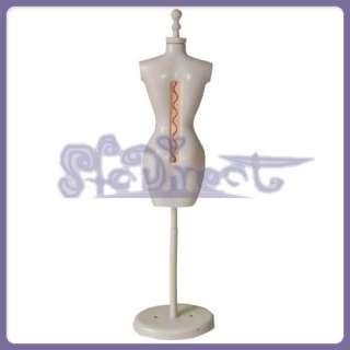 DRESS FORM MANNEQUIN STAND Golden Base for Barbie Doll