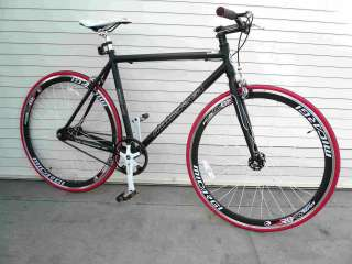 Fixie Fixed Gear Alloy Bicycle Bike 53cm RD 818 Men Matt Black