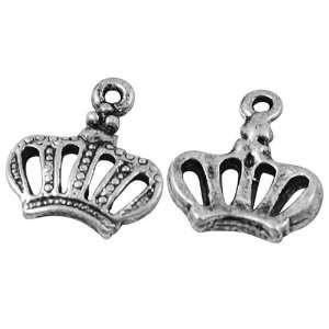 DIY Jewelry Making 12x Crown Alloy Pendants, Antique