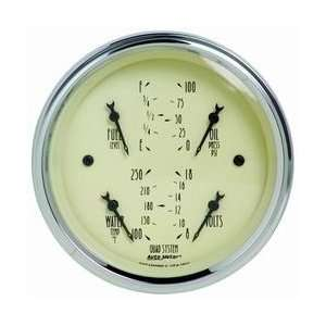 Auto Meter 1812 3 3/8IN A/B QUAD GAUGE Automotive
