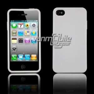 VMG Apple iPhone 4S TPU Slim Fit Skin Case Cover   White Premium 1 Pc