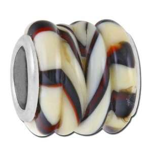 Twisted Tiger Barrel Lampwork Large Hole Beads Arts, Crafts & Sewing