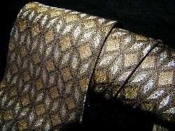 DONA Woven Silk Mens Necktie GREEN WHITE BLACK Neck Tie