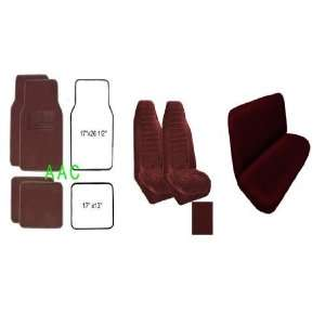 Pattern Front Bucket Seat Cover, A Set of 4 Universal Fit Plush Carpet