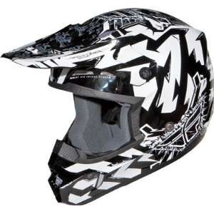 Fly Racing FLY Kinetic Electric Graphic Helmet Youth Black/White Large