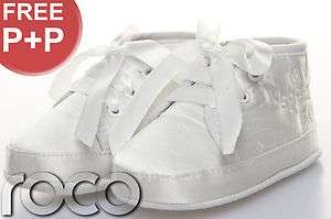 Boys Girls Unisex Ivory My Special Day Pram Shoes Christening Baby