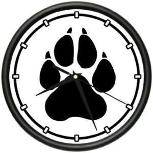 DOG PAW PRINT Wall Clock lover breeder groomer new gift