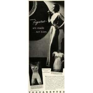 1935 Ad Vassarettes Panti Girdle Bandeau Bra Vassar