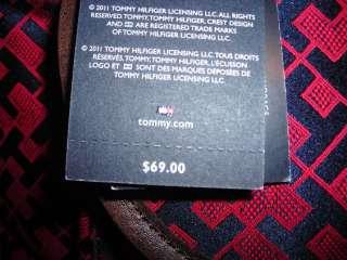 TOMMY HILFIGER NEW NWT Red Navy Blue Logo Satchel Handbag Purse Bag